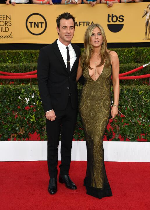 Jennifer Aniston y Justin en los SAG Awards.