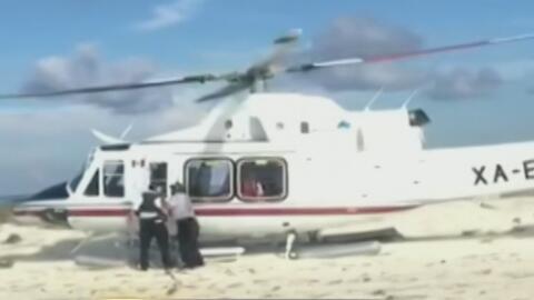 Helicóptero aterriza en zona prohibida y ocasiona el volcamiento de vari...