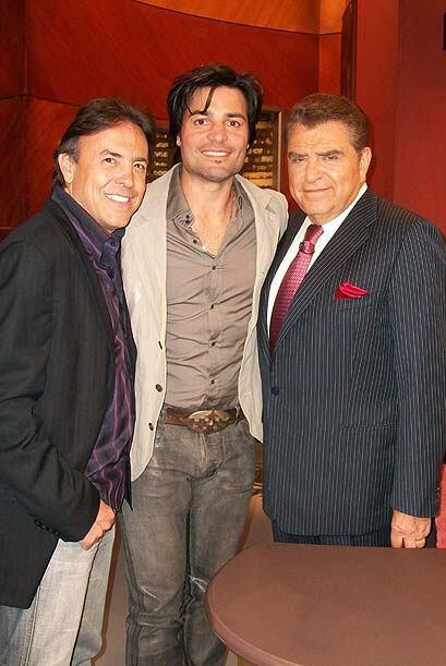 Chayanne compartió una velada con el Don y el músico Gerardo Flores.