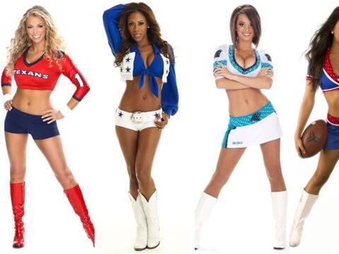 Las más lindas y simpáticas cheerleaders del 2013 se prepa...