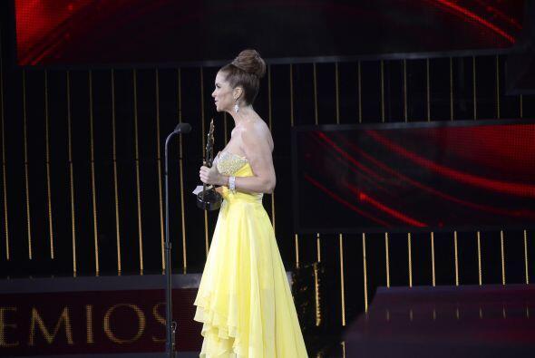 Aunque no ganó por Mejor actriz protagónica recibió un premio especial.