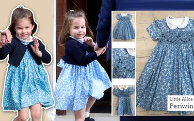 La princesa Charlotte provocó que se agotaran los vestidos azules...