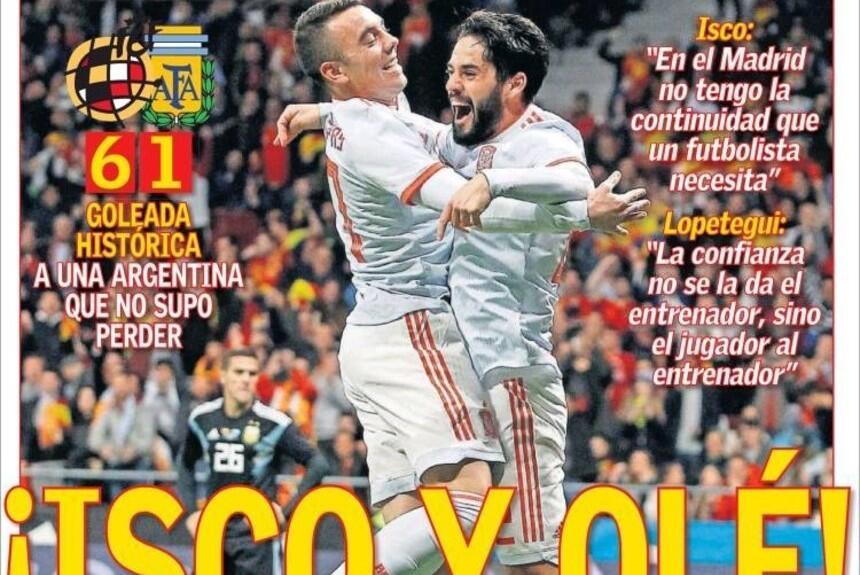 Medios del mundo destacaron la humillación de Argentina contra España  i...
