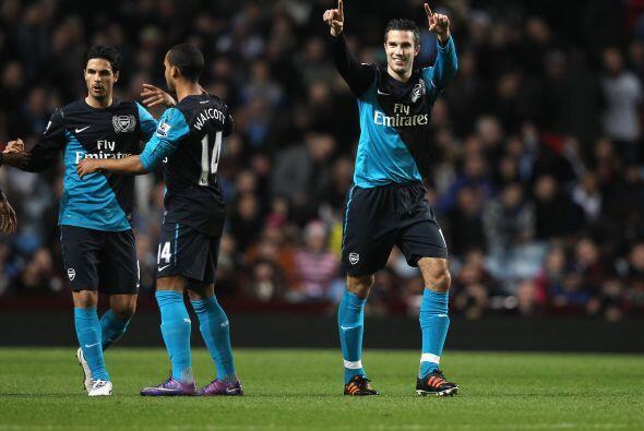 Arsenal se fue adelante en el resultado parcial gracias a un penalti mar...