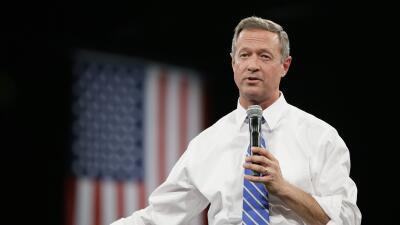 El candidato Martin O'Malley en un evento en Iowa