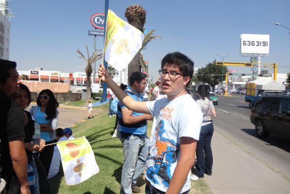 La juventud mexicana expresó su apoyo a la visita del Papa Benedi...