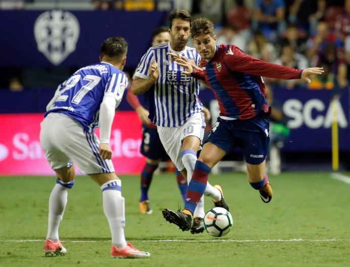 Levante goleó a la Real Sociedad; Carlos Vela disputó los 90 minutos 636...