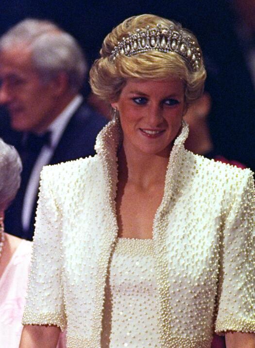 La princesa Diana fue vista en muchas ocasiones con la tiara de diamante...