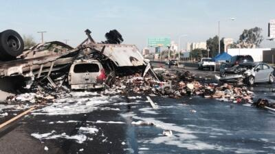 En fotos: los peores  accidentes de transporte de 2016 en California