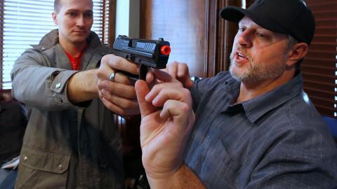 Un entrenamiento de manejo de armas en Utah.