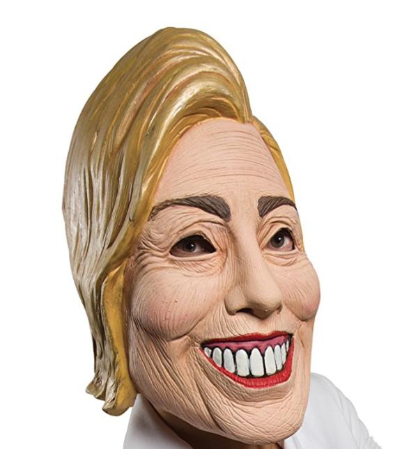 Máscara de Hillary Clinton.