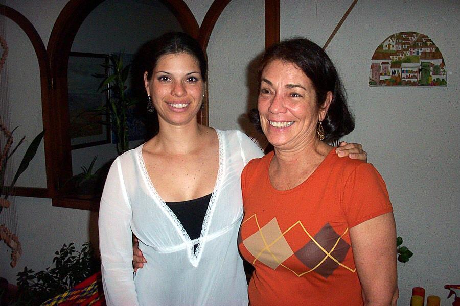 Érika Maldonado con su mamá