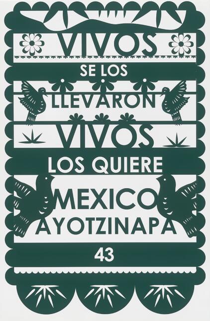 """La exhibición """"Ayotzinapa: un rugido de silencio"""" honra a los 43 estudia..."""