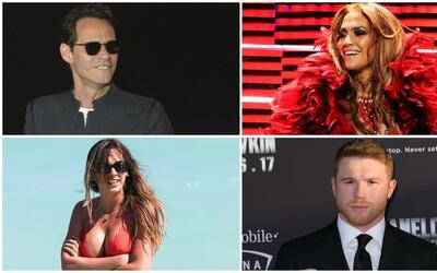 Marc Anthony, Jennifer López, Shannon de Lima y Saúl 'Cane...