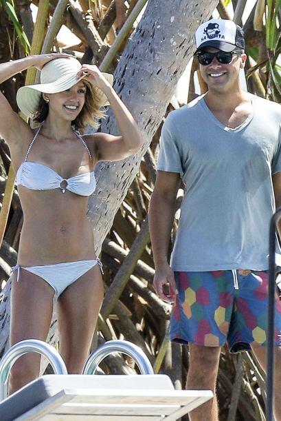 Jessica con Cash Warren, su esposo.