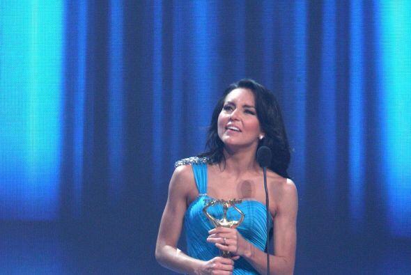 El público la aclamó por su trabajo en la telenovela.