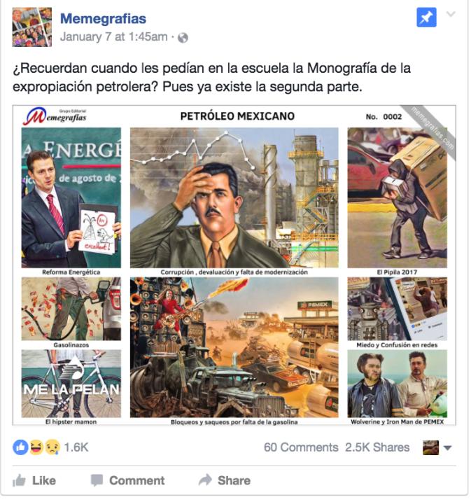 Esta memegrafía creada por el artista Raúl Moyado retrata la actual cris...
