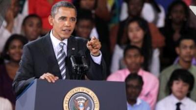 Barack Obama planteó solucionar el flujo migratorio ayudando al crecimie...