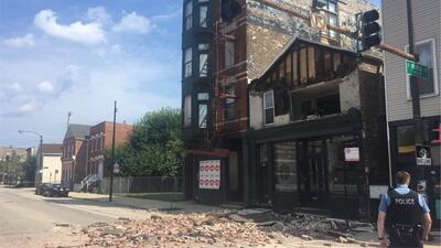 Se desploma la fachada de un edificio en el vecindario de Pilsen sin causar heridos