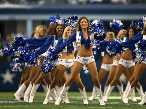 Las cheerleaders de los Dallas Cowboys cautivaron en Día del Pavo...