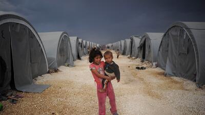 Un campamento de refugiados kurdos en Siria.