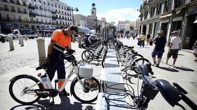 Madrid fue la primera ciudad europea en ofrecer bicicletas eléctricas de...