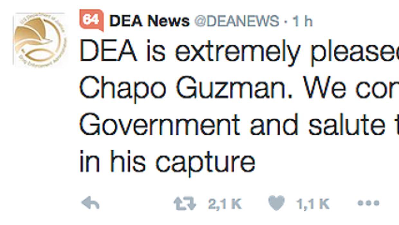 Captura Chapo, Twitter DEA