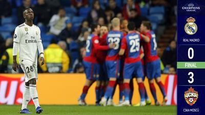 ¡Histórico! CSKA Moscú destrozó a un desaparecido Real Madrid
