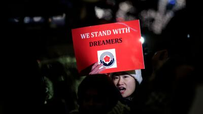 Protesta a favor de los dreamers en Nueva York.
