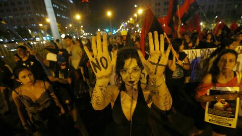 Un grupo de mujeres participa en una marcha convocada por la Coordinador...