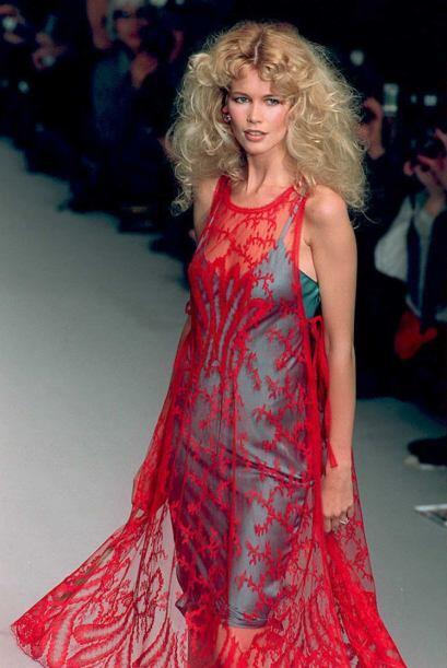 La modelo Claudia Schiffer nació el 25 de agosto de 1970.