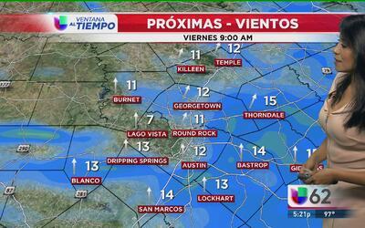 Austin seguirá disfrutando de cielos despejados y temperaturas cálidas