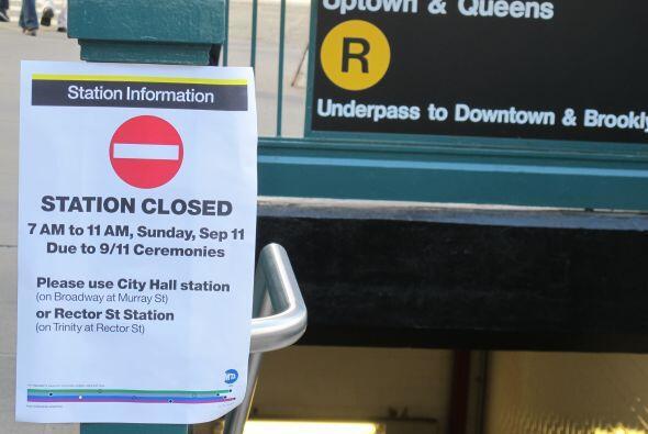 Las estaciones del subte estarán cerradas el domingo durante los actos.
