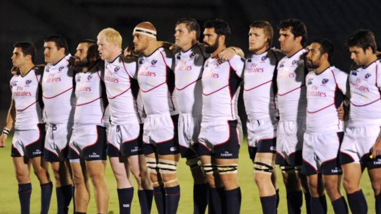 Los jugadores de la selección de Estados Unidos de rugby asistirán a una...