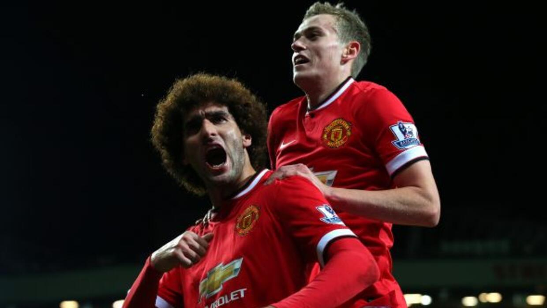 El belga Fellaini había puesto en ventaja al United, que a la postre log...