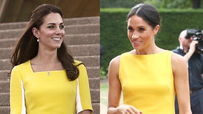 Meghan deslumbró de amarillo pero Kate lo hizo antes (y su look era más caro)