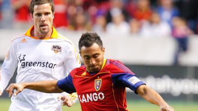 Arturo Álvarez con su último club en MLS, el Real Salt Lake.