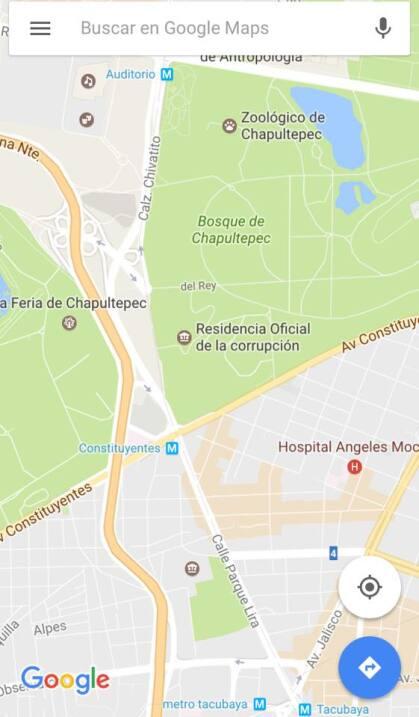 México, tierra de gobernadores prófugos o libres bajo fianza Google maps...