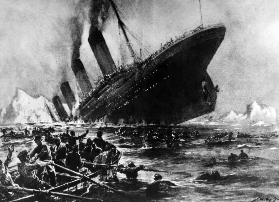Representación gráfica del hundimiento del Titanic