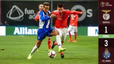 Mexicanos finalista, el Porto se impuso en el Clásico Portugués al Benfica