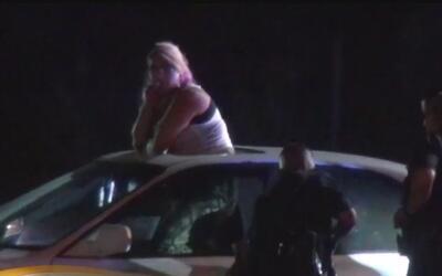 Arrestas a una mujer conducía un vehículo robado y chocó contra una patr...