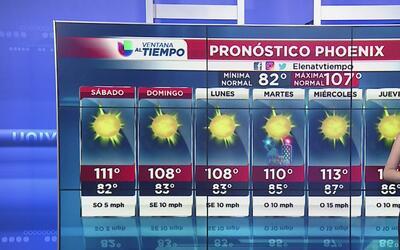 Temperaturas elevadas para este fin de semana en Arizona