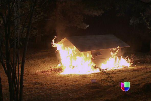 Su pequeño hogar ardió completamente en llamas, pero logró salir con vid...