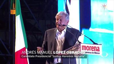 """Quiero ser un buen presidente de México"": AMLO"