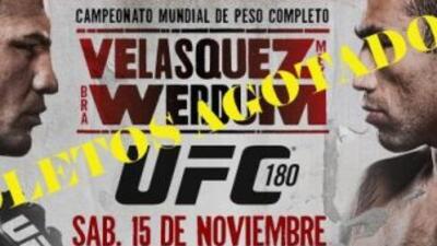 Boletos agotados para UFC 180 (Foto: Twitter).