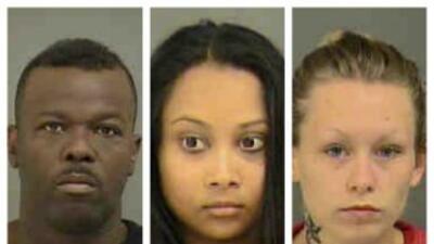 Jonathan Williams, Neela Arjoonsingh y Melissa Barnes fueron detenidos p...