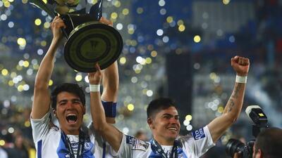 La celebración de Pachuca en su nuevo título de Liga de Campeones de Concacaf