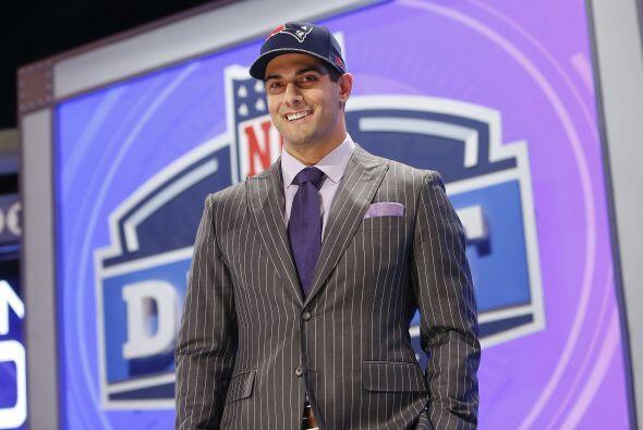 Los Patriots sorprendieron al seleccionar en la segunda ronda (pick 62 g...