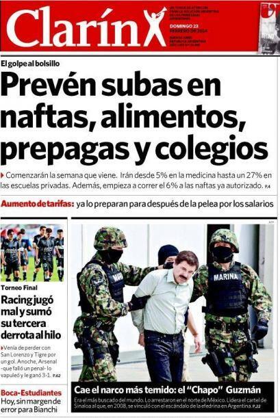 Y en el sur de América, la noticia también fue recibida co...