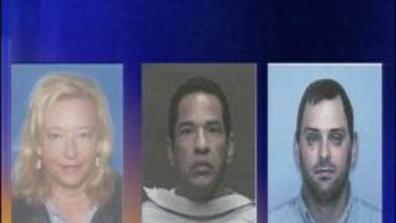 Los tres sospechosos Shawna Forde,  Albert Gaxiola y Jason Bush